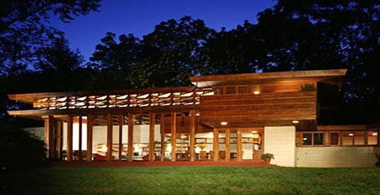 Mid century modern design bleck bleck architects for Frank lloyd wright usonian home plans