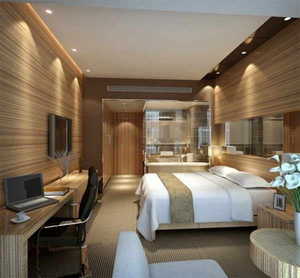 3d rendering of hotel room bleck bleck architects for Small design hotels of the world