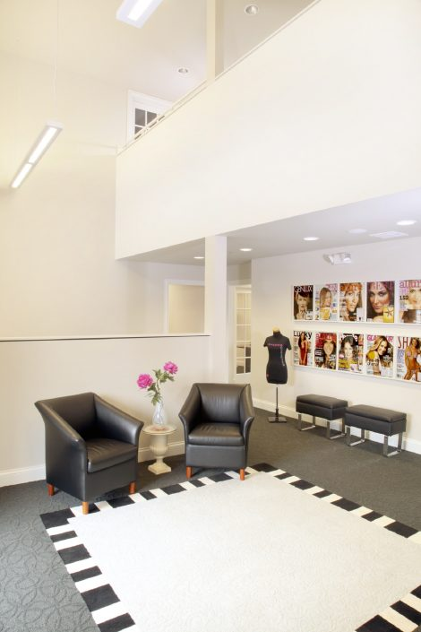 This image is of the entrance to the office spaces at AmazingCosmetics.