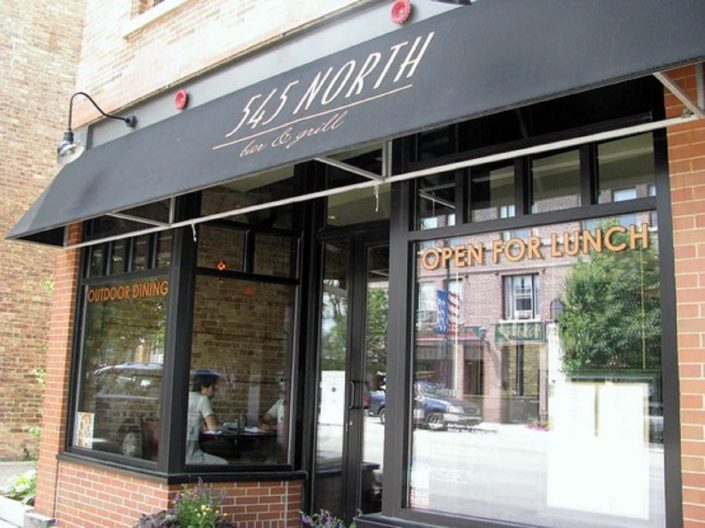 Main entrance to 545 North Bar & Grill on Milwaukee Ave., in Libertyville.