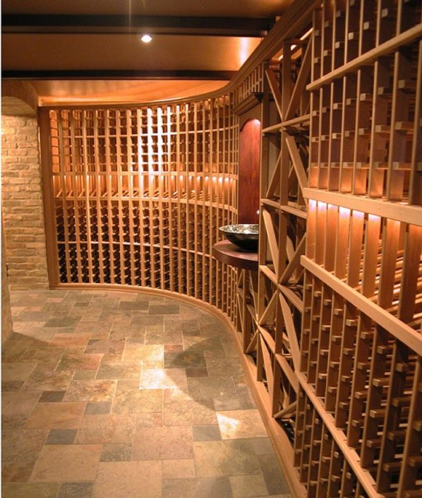 For this Chicago private residence we created a custom built wine cellar.