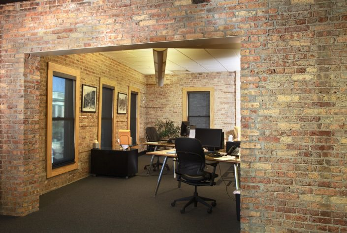 We responded to Muller Trading's desire for rapid communication and internal collaboration by creating an open, modern floor plan designed to accommodate both the present and the future company structure.