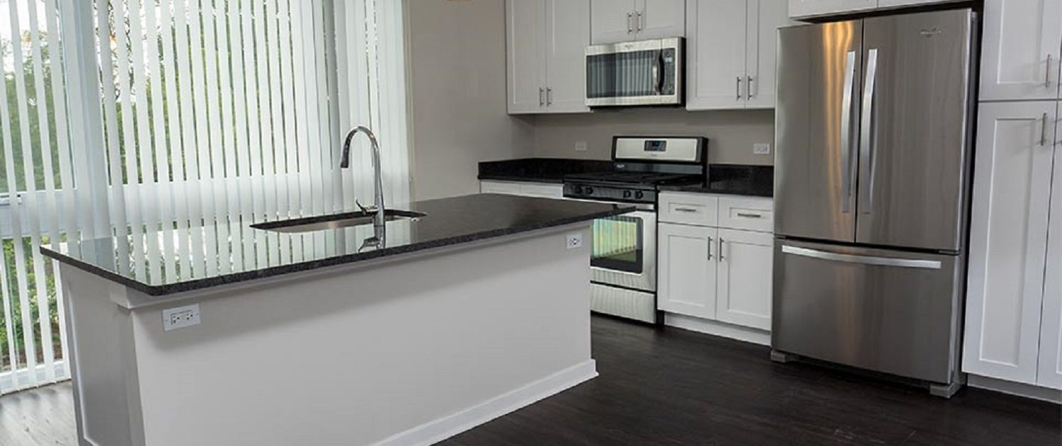 Northline Apartments in Libertyville, IL. View of the kitchen.
