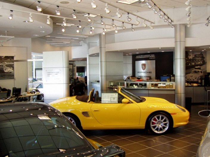 Porsche Exchange showroom