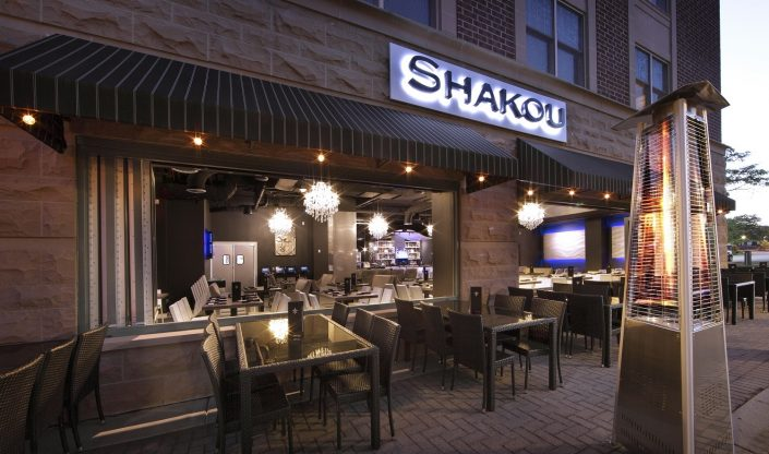 Shakou Arlington Heights outdoor dining and lounge.