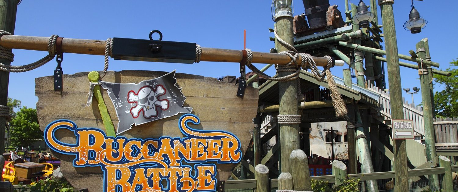 Six Flags Great America - Buccaneer Battle sign marquee.