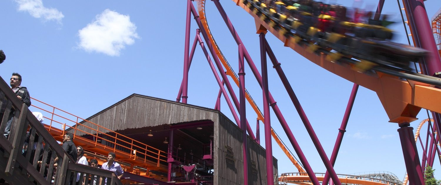Six Flags Great America - Raging Bull view from the ride launch
