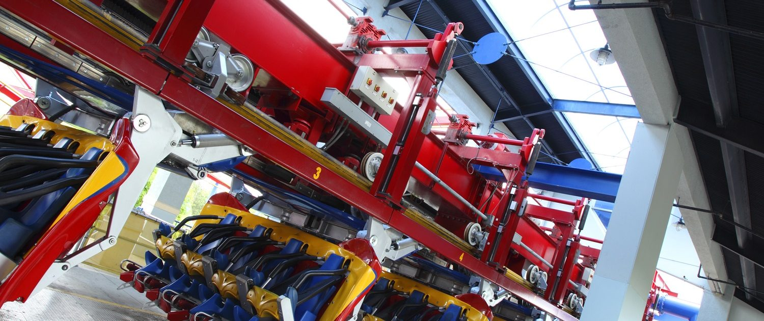 Six Flags Great America - Superman launch station interior