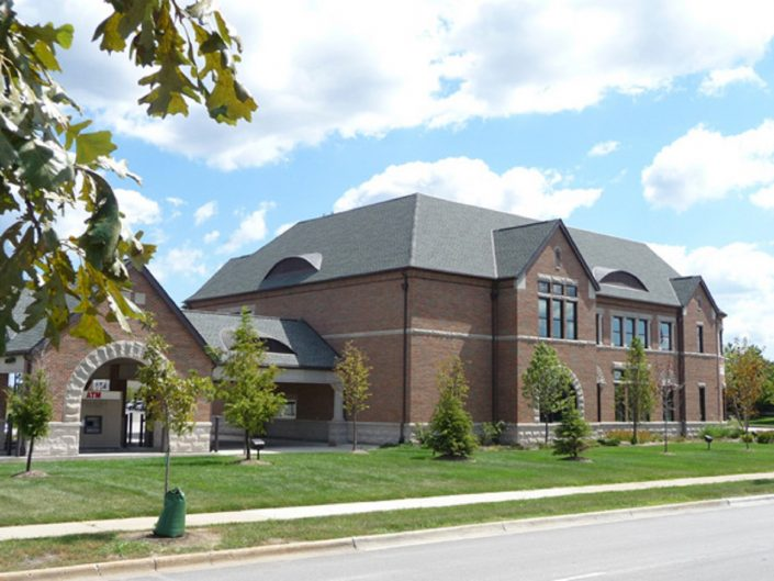 Vernon Hills Bank & Trust building exterior and drive up.