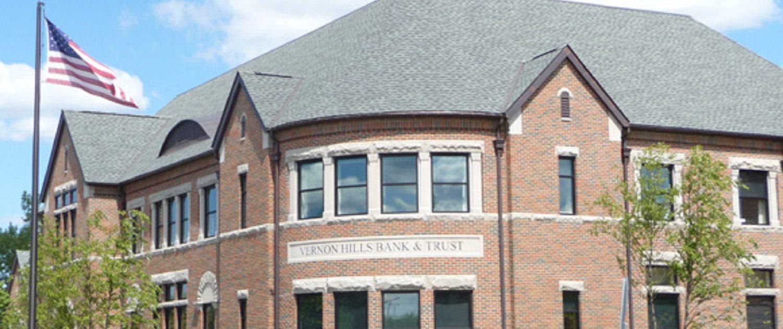 Vernon Hills Bank & Trust building exterior.