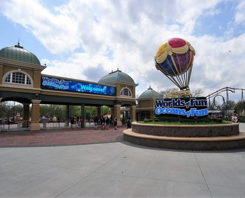 Worlds of Fun Entrance Gate Designed by Bleck & Bleck Architects
